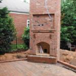 fireplace backyard design, Huntersville, NC