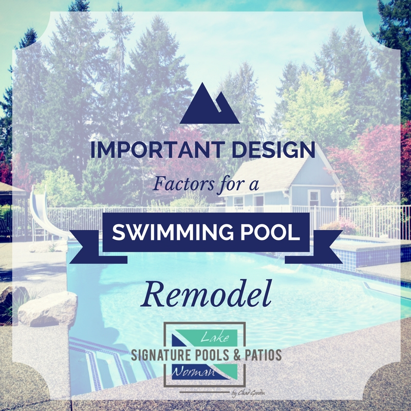 Important Design Factors for a Swimming Pool Remodel