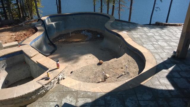 Swimming Pool Installation, Lake Norman, NC