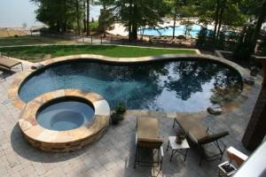 Pool Landscaping, Lake Norman, NC