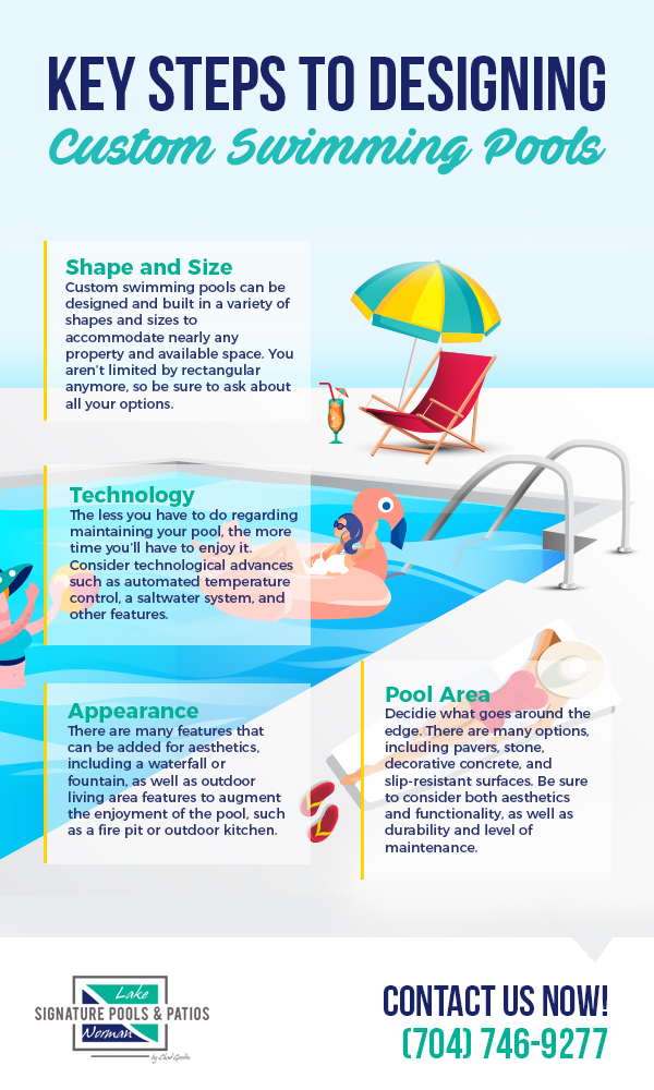 Key Steps to Designing Custom Swimming Pools [infographic]