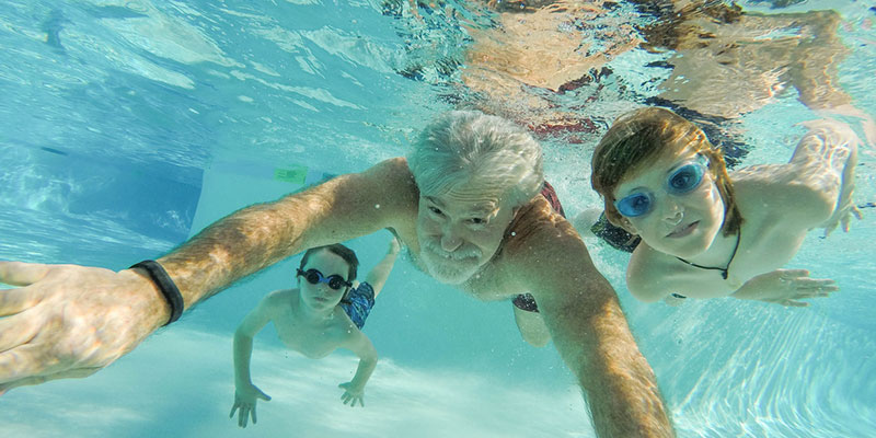 swimming pools are still a great way to be active and healthy