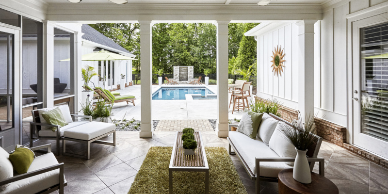 A backyard design that uses the space effectively