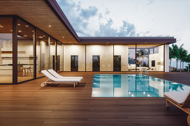Lounge in Luxury on Your Pool Deck with a Custom Swimming Pool